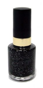 Laura Paige Nail Varnish - Sparkling Black No. 22